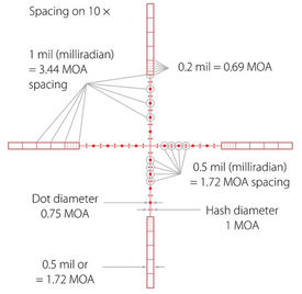 Предварительный просмотр фотографии Hawke Panorama 6-18x50 AO (10x 1/2 Mil Dot IR)