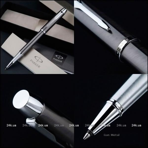 Ручка-роллер Parker IM Core T321 Brushed Metal GT черный F 1931663