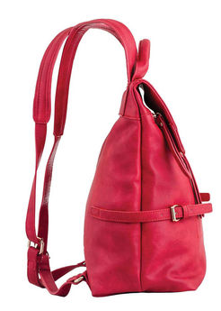 Предварительный просмотр фотографии YES! Сумка-рюкзак, красная, 29x33x15см
