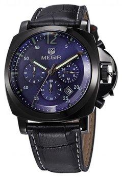 Часы Megir Black Blue Black MG3006