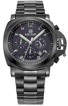 Часы Megir Black MG3006 SS