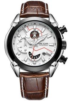 Часы Megir Black Silver Brown MG2065