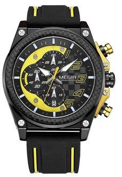 Часы Megir Black Yellow Black MG2051