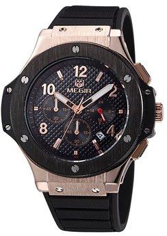 Часы Megir Gold Black MG3002G