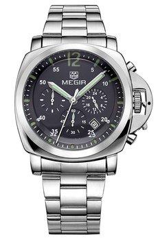 Часы Megir Silver Black Silver MG3006 SS