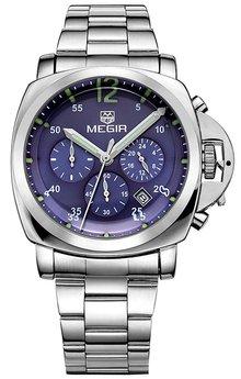 Часы Megir Silver Blue Silver MG3006 SS