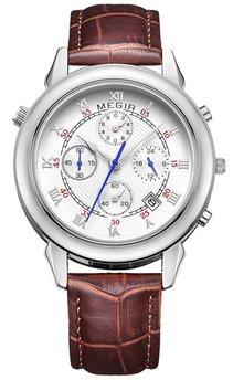 Часы Megir Silver Brown MG2013