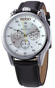 Часы Megir Silver White Black MG3005