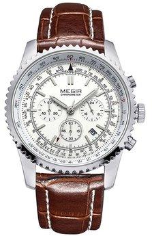 Часы Megir White Brown MG2007