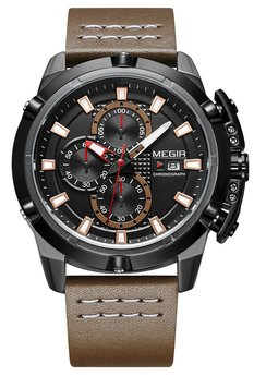 Часы Megir Black Brown MG2062