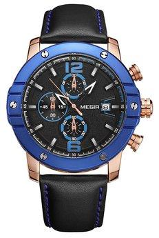 Часы Megir Blue Black MG2046