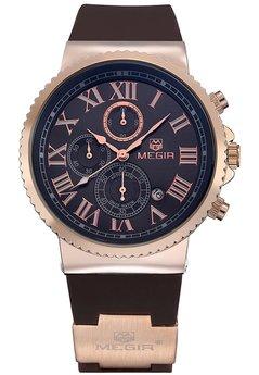 Часы Megir Gold Black Brown MG3007
