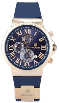 Часы Megir Gold Blue MG3007