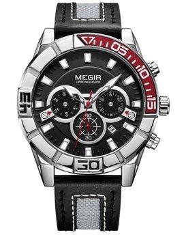 Часы Megir Red Black MG2066