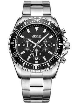Часы Megir Silver Black Black MG2064 SS