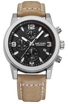 Часы Megir Silver Black Brown MG2026