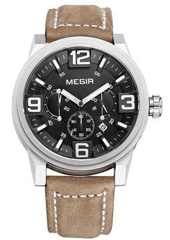 Часы Megir Silver Black Brown MG3010