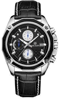 Часы Megir Silver Black MG2015