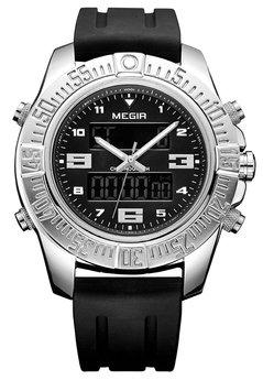 Часы Megir Silver Black MG2038