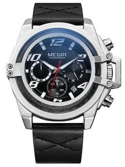Часы Megir Silver Black MG2052