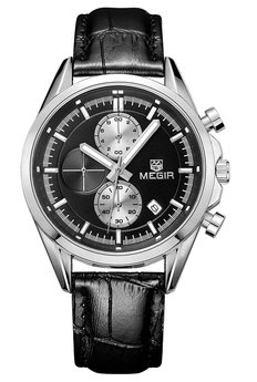 Часы Megir Silver Black MG5005