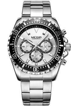Часы Megir Silver Black Silver MG2064 SS