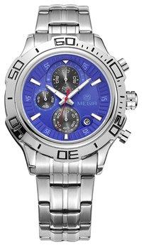 Часы Megir Silver Blue Silver MG2019 SS