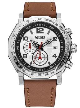 Часы Megir Silver Brown MG2048