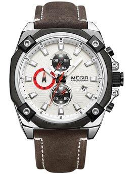 Часы Megir Silver Brown MG2054