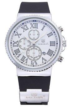 Часы Megir Silver White Black MG3007