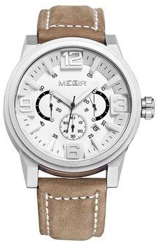 Часы Megir Silver White Brown MG3010