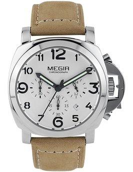 Часы Megir Silver White Brown MG3406