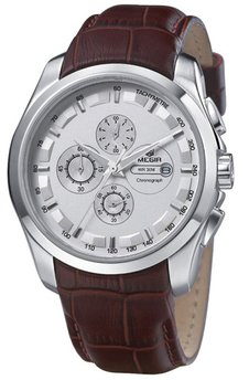 Часы Megir Silver White Brown MG5003