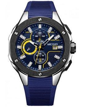 Часы Megir Black Blue MG2053