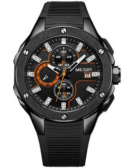 Часы Megir Black MG2053