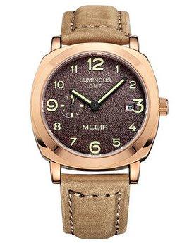 Часы Megir Gold L.Brown MG1046