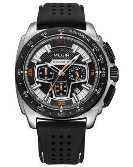 Часы Megir Silver Black MG2056