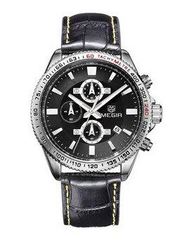 Часы Megir Silver Black MG3001