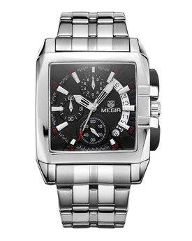 Часы Megir Silver Black Silver MG2018 SS
