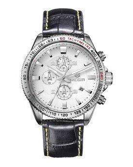 Часы Megir Silver White Black MG3001