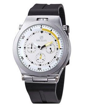 Часы Megir Silver White Black MG3003
