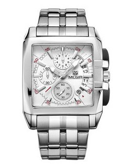Часы Megir Silver White Silver MG2018 SS
