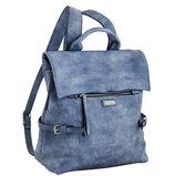 Сумка-рюкзак, серебро, 29x33x15см
