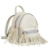 Сумка-рюкзак, кремовая, 19.5x17x13