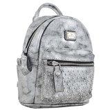 Сумка-рюкзак, темно-серая, 17x20x8см
