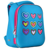 H-12-1 Hearts turquoise